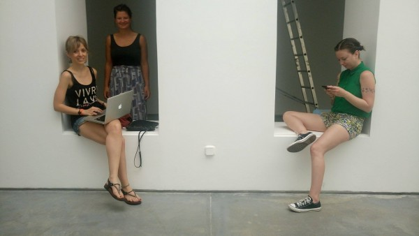 Flo Kasearu and Jaan Toomik in Galerie Max Estrella